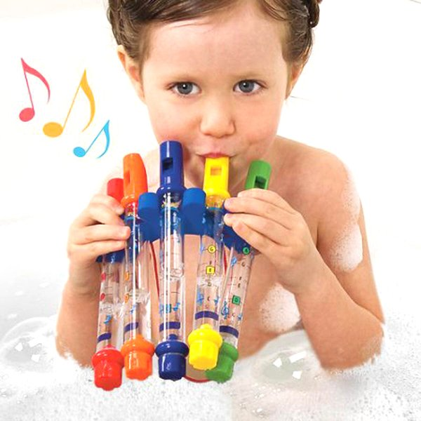 Fun Music Sounds Baby Bath Toys Water Flute Swimming Toy for Kid Educational Kids early learning Bath Tub Tunes Toy