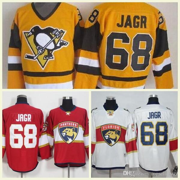 1998 Dikişli Calgary Flames New York Rangers Florida Panthers Formalar Vintage Buz # 68 Jaromir Jagr All-Star Hokeyi Jersey