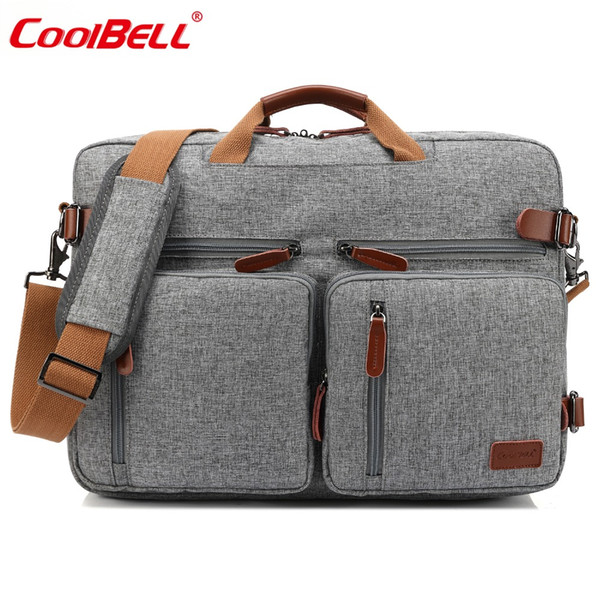 CoolBELL 17.3 Inch Convertible Messenger Bag Men Laptop Case Business Multifunctional Knapsack Travel Rucksack Bags For HP/ Acer