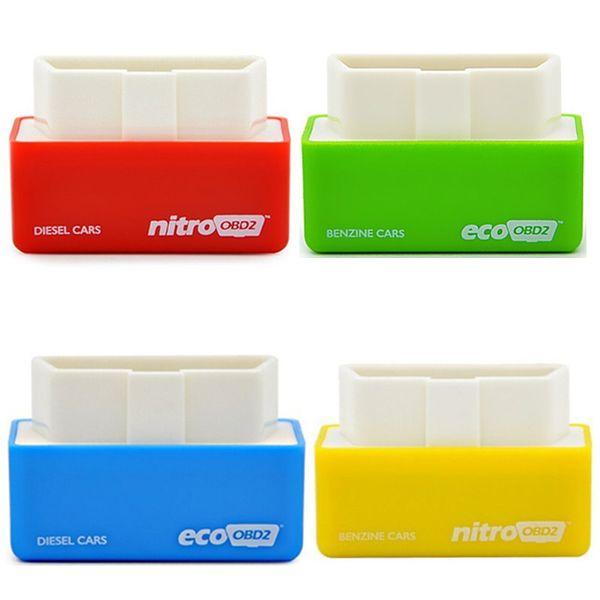 top popular Portable NitroOBD2 Newest EcoOBD2 Economy Chip Tuning Box for Benzine 15% Fuel Save Plug&Drive OBD 2 scanner 2019