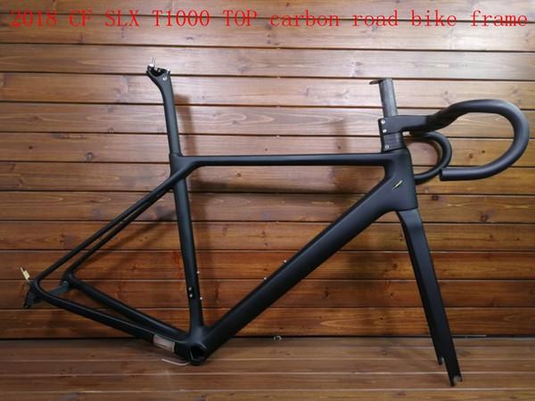 2018 new model hot sell CF SLX T1000 TOP carbon road bike frame bicycle racing bike frameset + handlebar disc brake taiwan made can be XDB