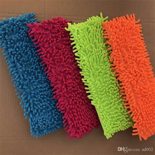 Mops Covers Floor Clean Pad Water Absorb Chenille Flat Mop Sleeve Head Replacement Refill Practical Household Clean Tools 2 94jb X