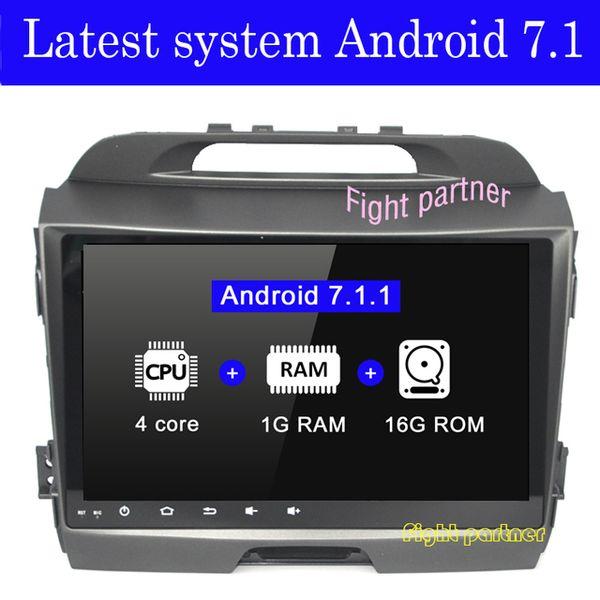 Android 7.1 Car DVD GPS per kia sportage R 2010 2011 2013 2013 2014 2015 3G 4G Wifi Bluetooth fotocamera posteriore mappe