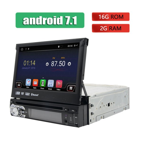 """Android 1 Din Car DVD Player GPS Navigation WIFI 3G 4G Stereo Touch Screen Car Radio Bluetooth Universal 7"""" Multimedia Player"""