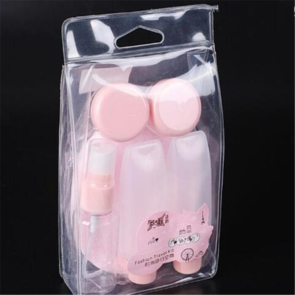 Spray Perfume Bottle Cream Box Squeeze Bottle DIY Mask Stick Cleansing Tools Puff Travel 7 pcs