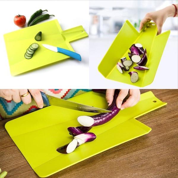 Accesorios de cocina plegable Tabla de cortar antideslizante vegetales anti bacteria Tabla de cortar del alimento del corte Herramientas de cortar barra de bloques de cocina