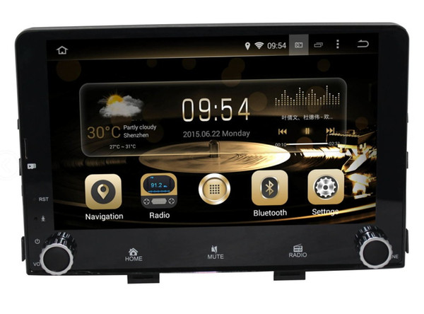 9.1 inch Android 8.0 7.1 eight Octa core Car CD DVD GPS Player NAVIGATION AUTO for KIA RIO 2017- 2018 deckless