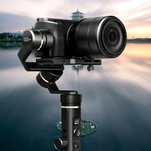 FeiyuTech Feiyu G6 Plus Spritzwassergeschützte Hand Gimbal Stabilisator für Smartphone held Mirrorless Kameras as6000 schwarz