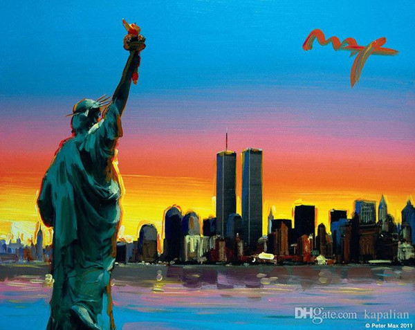 Peter Max New York Poster The Statue Of Liberty Art Poster Print Photopaper 16 24 36 47 pollici