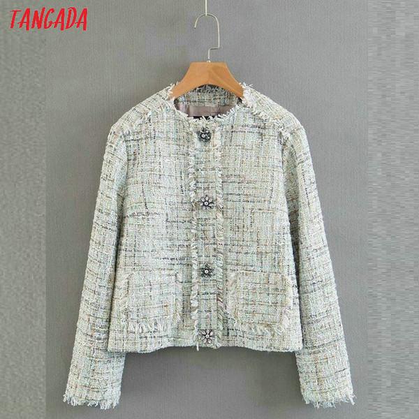 Großhandel Tangada Frauen Herbst Jacke Mantel Schicke Fransen Kurze Jacken Taste Langarm Büro Damen Neue Angekommene Toutwear QB11 Von Vanilla06,