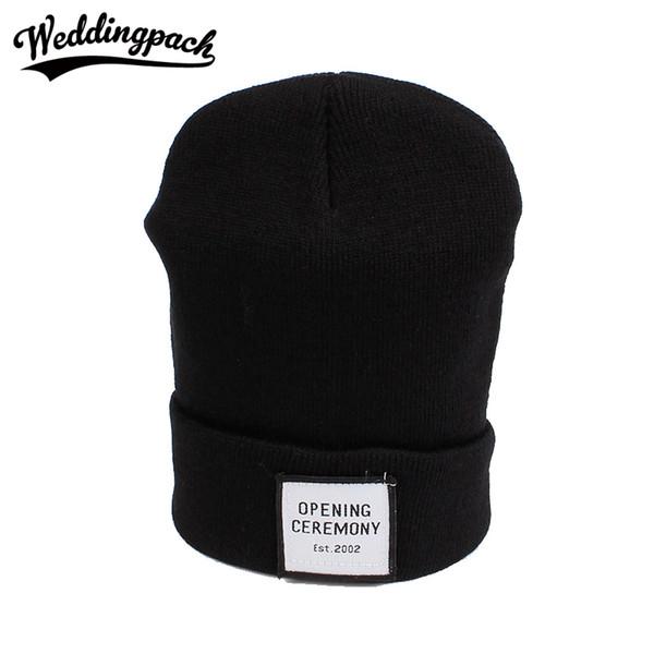 Knitted Cotton Women Beanie Hats Fashion OPENING CEREMONY Women Hats Autumn Winter Warm Female Hat Letter Hip Hop Skullies