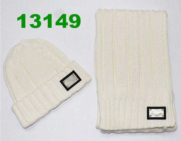 Nueva Moda de Invierno Cálido Sombrero de Cachemira de Alta Calidad Cap Hombres Mujeres bufanda de lana Sombreros de Punto Gorros Bufandas, Nueva Marca Envío Libre D2779798