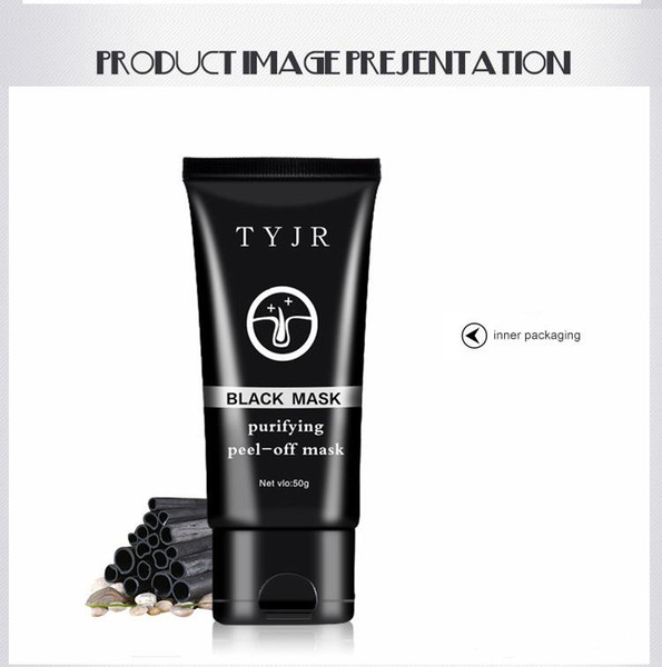 TYJR Black Mask Deep Cleansing Purifying Peel Off Face Skin Care Oil Control Pore Cleaner Remover Blackhead Suction Facial Masks 50g