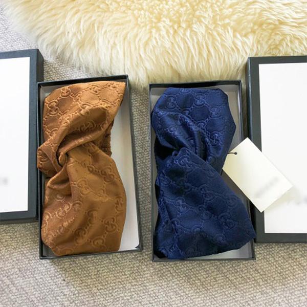 Designer Elastic Headbands per le donne 2018 New Luxury testa sciarpa di velluto Cross turbante hairband Streetwear regalo di gioielli di capelli