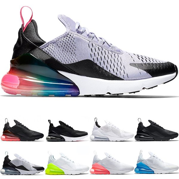 sports shoes 61e56 dfa23 2018 270 Running Shoes 270s Men Women Be True Oreo Triple White Black Hot  Punch Teal Volt Designer Trainers Sport Sneaker Size 5.5 11 From ...