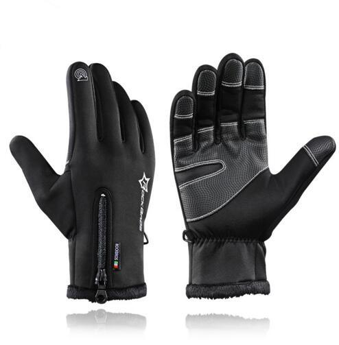 Bike Gloves Winter Thermal Windproof Warm Full Finger Cycling Gloves Anti-slip Bike Bicycle Gloves for Man Woman