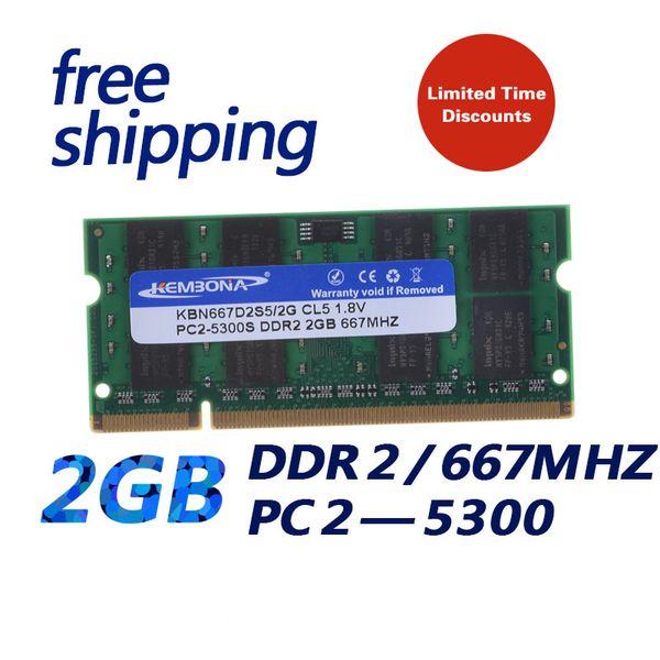 laptop ram KEMBONA in stock DDR2 667 / PC2 5300 DDR2 2GB Laptop RAM Memory / Lifetime warranty / Free Shipping!!!