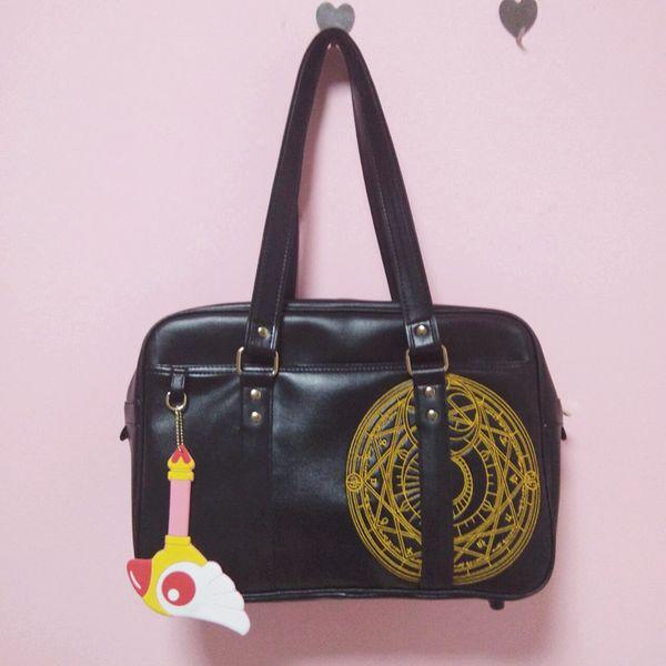 2018 Japanese Style JK Uniform Cosplay Handbag Sailor Moon Cardcaptor Sakura Magical Girl PU Leather Messenger Bags