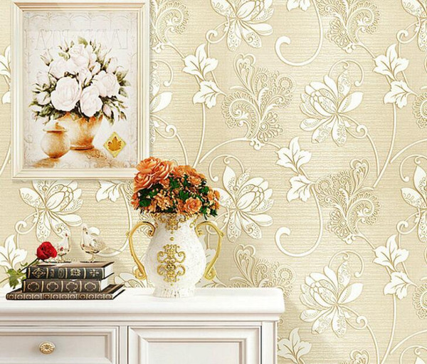 best selling 10M European style non-woven wallpaper classic wall paper roll wallcovering luxury wallpaper for bedroom living room hotel