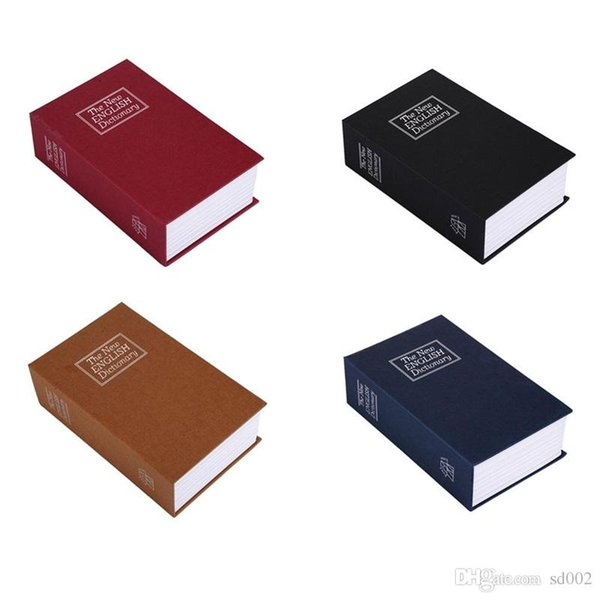 Retro Book Shape Piggy Bank Creative Money Storage Boxes Safety Piggy Banks With Lock Design Container 25 5sx ff