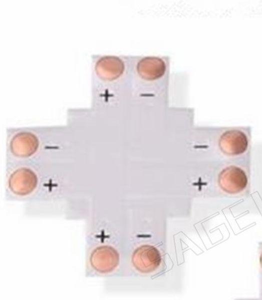 Ücretsiz shiping 5 adet 2Pin 4Pin LED Bağlayıcı 8mm 10mm L / T / X Şekli Hiçbir Kaynak Adaptörü 3528 2812 5050 RGB Işık Şeridi Işık Için Kullanın