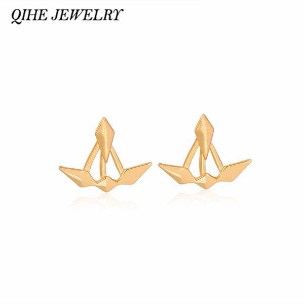 One Pair Minimalist Punk Spike Claw Jacket Ear Stud JEWELRY Pendientes Mujer haif