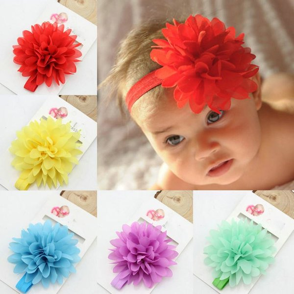 Hot Sale Baby Girl Elastic Hairband Children Hair Wear For Kids Head Band Flower Headband Baby Hair Accessories dropshipping
