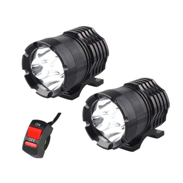 best selling 1 Pair Motorcycle LED Headlights 12V 80W 8000LM U2 LED Motorbike Beam Headlamp Moto Spot Head Light Auxiliary Lamp DRL