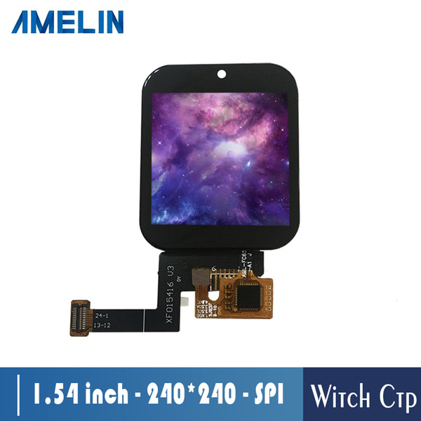 1.54 inch 240*240 IPS TFT LCD Module display with 4 line SPI interface screen and CTP touch panel for smartwatch