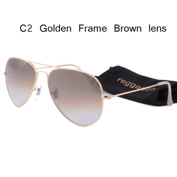 glaslinse sonnenbrille frauen männer 2019 pilot fahren sonnenbrille 58mm 3025 farbe linsen spiegel uv400