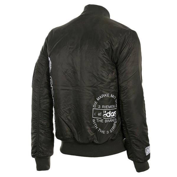 Jaqueta de homens de moda preto cor sólida tamanho variedade XS-XXL 2018 marca de rua 2018 Designer Long Down Jacket