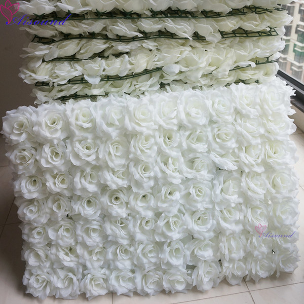 2pcs Silk Flower Wall Wedding Event or Festival Artificial Rose Flower Panel For Outdoor Stage Decor Supplies Flori