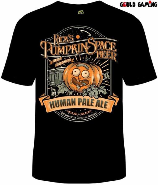 Rick e Morty Pumpkin Spice Beer T-Shirt Unisex Algodão Adulto TV Dia das Bruxas Novo