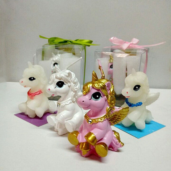 Creative Small Pegasus Unicorn birthday candles Children's party decoration candle Valentine's day birthday candle