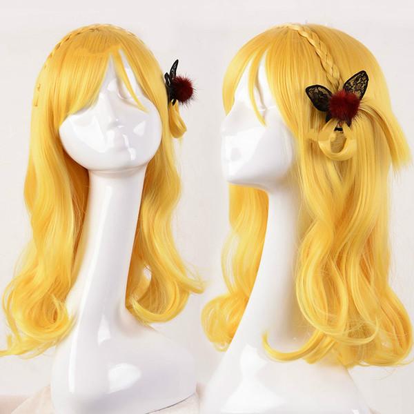Anime LoveLive Sunshine Ohara Mari Girl Cosplay Fiesta Larga Peluca de pelo sintético resistente al calor