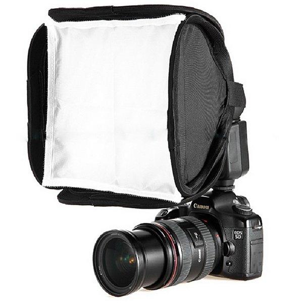 Freeshipping Camera Flash Diffuser 23cm Mini Portable 9inch Softbox Diffuser for Flash/Speedlite/Speedlight 23x23cm