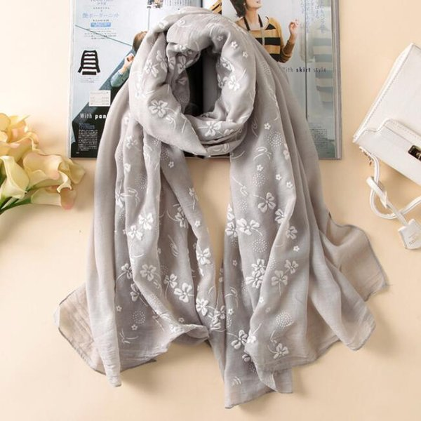 new brand spring women scarf Embroider fashion long scarves cotton winter shawl lady female free shipping