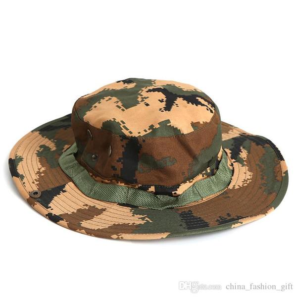 Summer Men's Sunscreen Hats Outdoor Fishing Hat Camouflage Wide Brim Hats For Men Outdoor Sun Hats