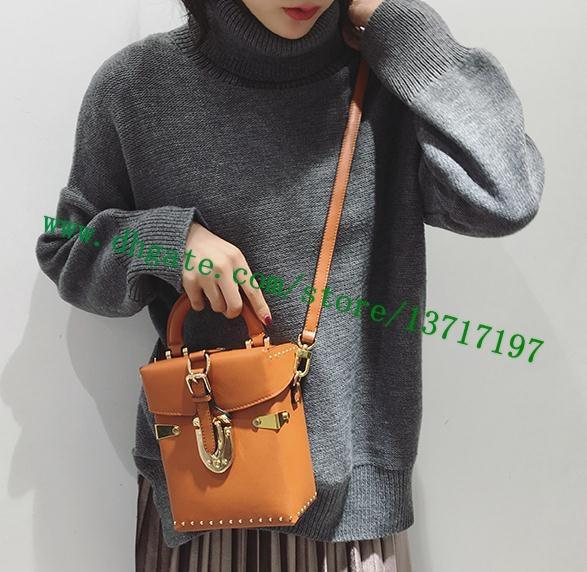 Top Grade Women Brown Canvas Coated Real Leather Camera Bag M43518 Lady Shoulder Bag Messenger Cosmetic Pack