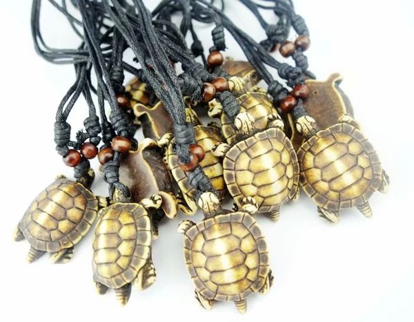 FREE SHIPPING yqtdmy 12 pcs Imitation Carved Lovely Surfing Turtles Pendant Lukcy Necklace Choker Gift Amulet Gift