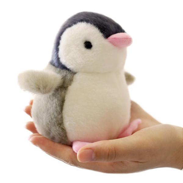 13cm Baby Puppen gefüllte Spielzeug niedlichen Cartoon Sound Pinguin kleine weiche Spielzeug Mini Plüsch Tiere Brinquedo Geburtstagsgeschenk auf Auto / Bett