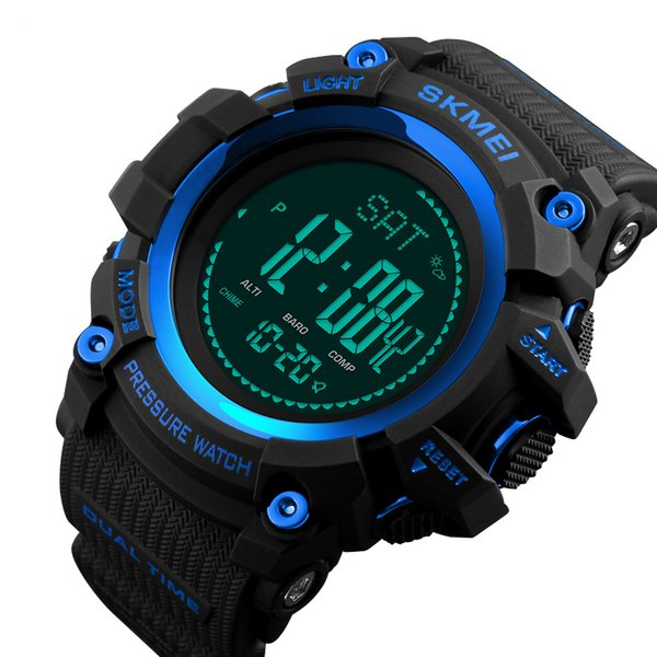 Diligent Skmei 2018 New Compass World Time Pedometer Stopwatch Calories Men Watch Waterproof Electronic Digital Watches Relogio Masculino Digital Watches