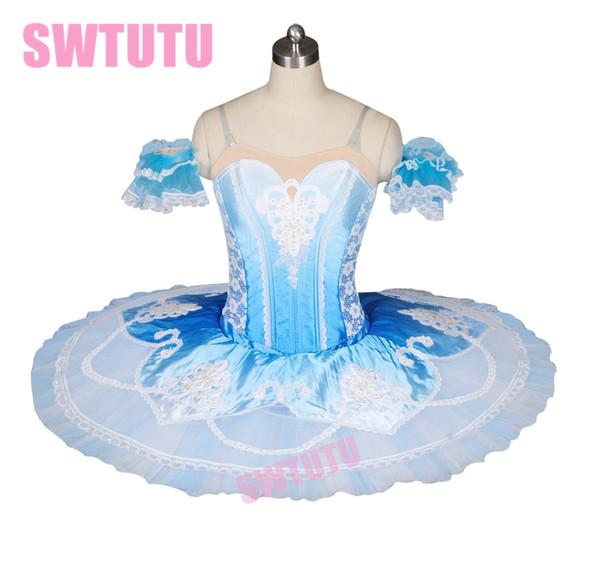 Bt8985b desempenho ballet tutu azul nutcracker platter tutu mulheres profissional clssical stage traje