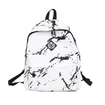 Mochila de nylon de las mujeres para los adolescentes Bolsos de las señoras de las muchachas Marbling Mochila Ordenador femenino mochila de alta calidad Mochila