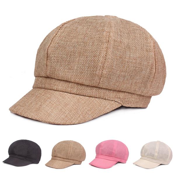 mode béret pour dames monochrome rétro peintre chapeau visière de voyage