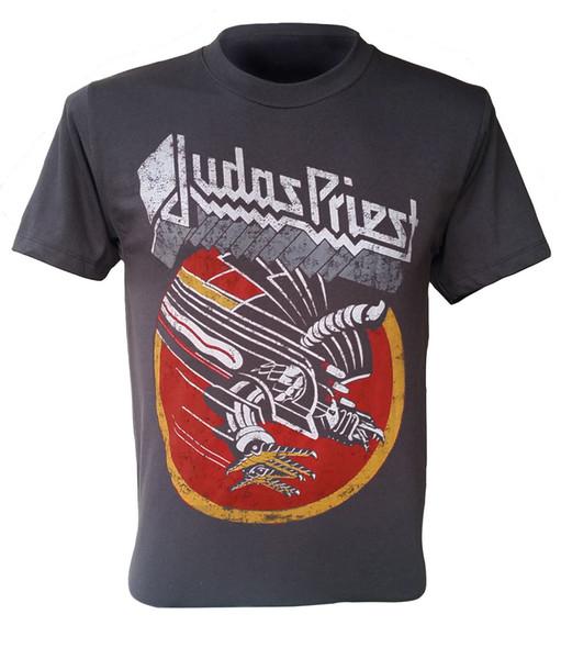Judas Priest Rock Heavy Metal Rétro T-Shirt Vintage Pas Cher Noir Nouveau Summer Manches Courtes En Coton Harajuku Tops