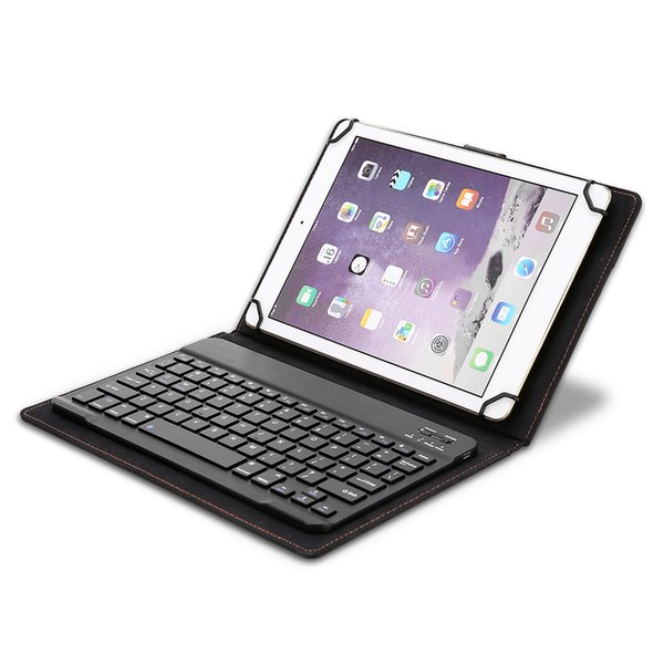 """Wireless Bluetooth Keyboard for 8in to 10.1"""" inch Bluetooth Tablets 78 Keys Keyboard with Leather Case for IOS Android Windows"""