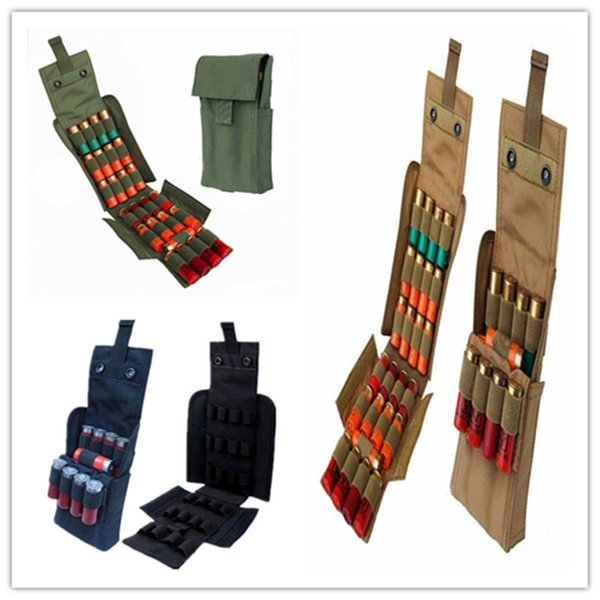 top popular FIRECLUB Hunting Molle 25 Round 12 Gauge Shells Accessory bag Reload Magazine Bag 2021