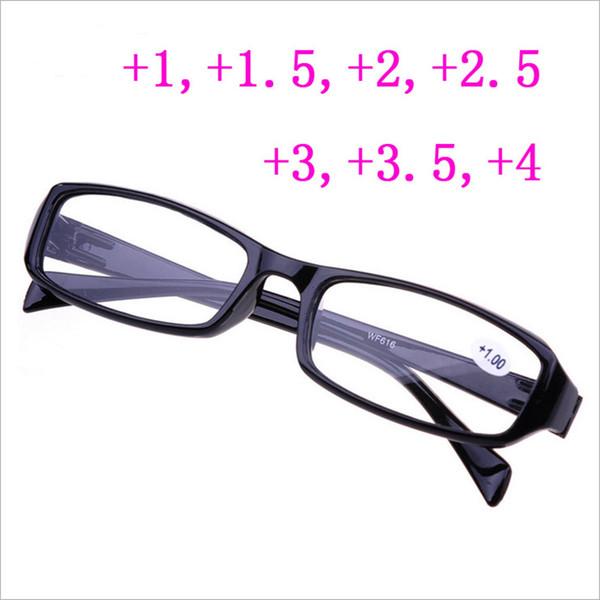 2018 Gafas de lectura calientes Hombres Mujeres Gafas de anteojos baratas para hipermetropía +100 +150 +200 +2.50 +3.00 +400 Gafas de anciano al por mayor