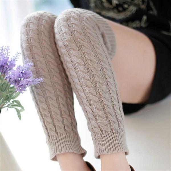 2pairs Women Leg Warmer Winter Knit Boots Knee Trim Fabric Knitted Hosiery Crochet Long Socks Chaussettes Femme Boots Warmer